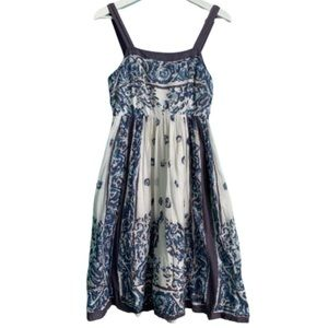 Anthropologie Maeve Catmint blue floral dress sz 2